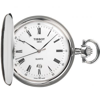 Tissot Savonette Full Hunter Pocket Fickurklocka Silver T83655313