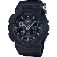 Mens Casio G-Shock Blackout Cloth Series Alarm Chronograph Watch