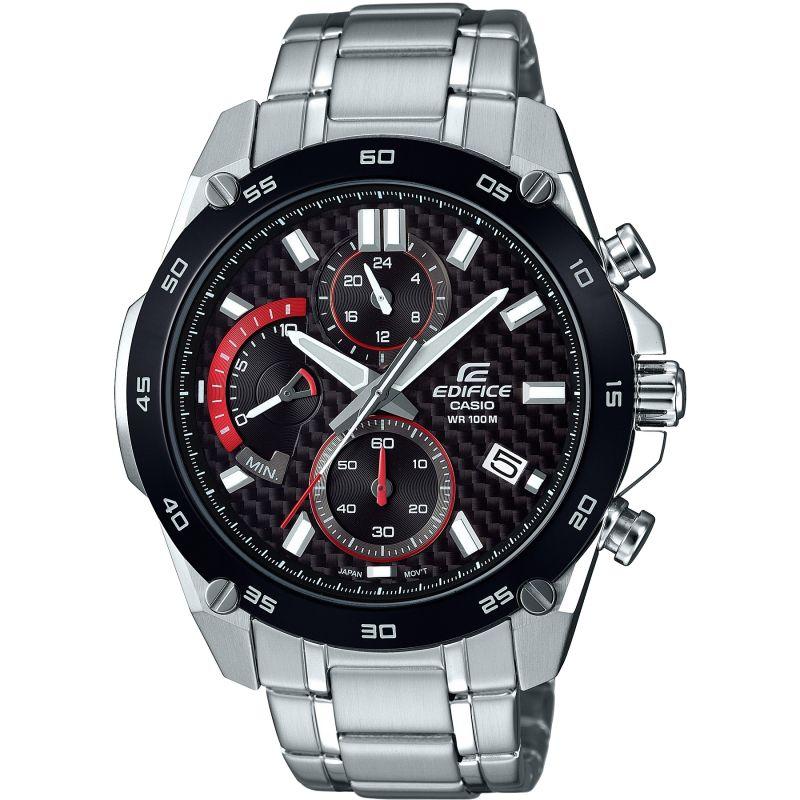 Mens Casio Edifice Carbon Fibre Retrograde Chronograph Watch