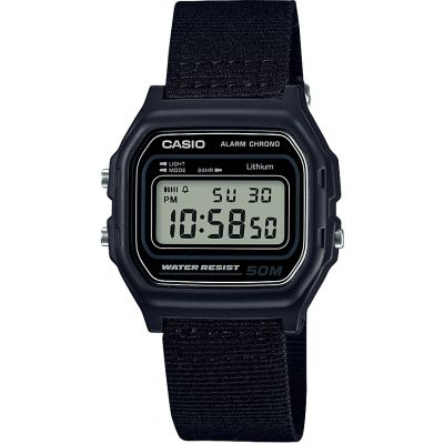 Casio Classic Collection Cloth Unisexkronograf Svart W-59B-1AVEF