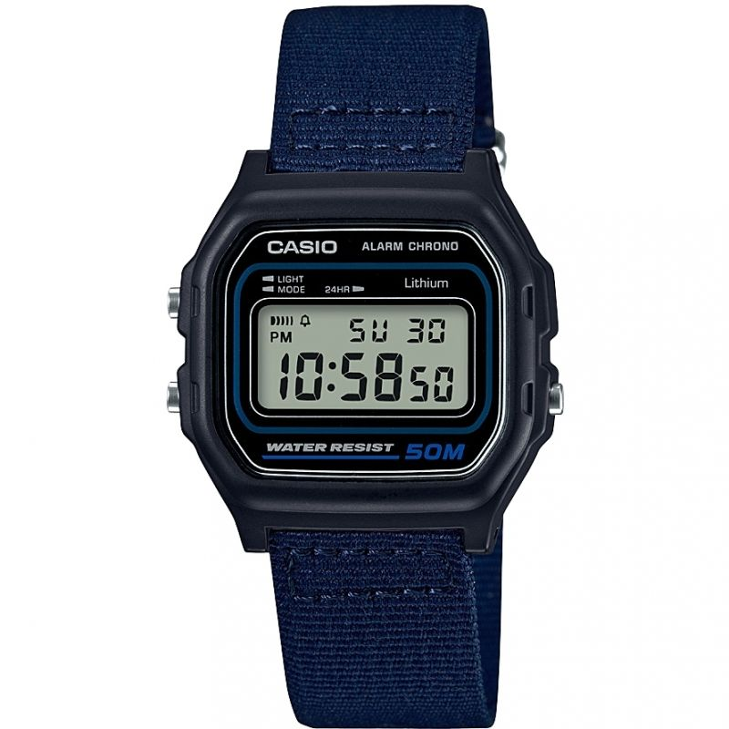 Casio Classic Collection Cloth Unisexkronograf Blå W-59B-2AVEF