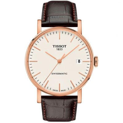 Tissot Everytime Swissmatic Herrenuhr in Braun T1094073603100