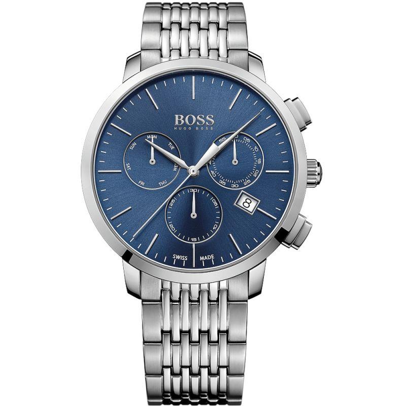 Mens Hugo Boss Swiss Made Slim Chronograph Watch