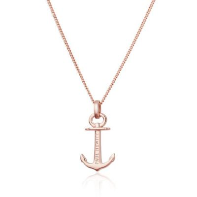 Ladies Paul Hewitt Sterling Silver Rose Gold Plated Anchor Spirit Necklace PH-AN-R