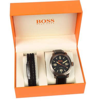 Hugo Boss Orange Capetown Gift Set Herrklocka Svart 1570052