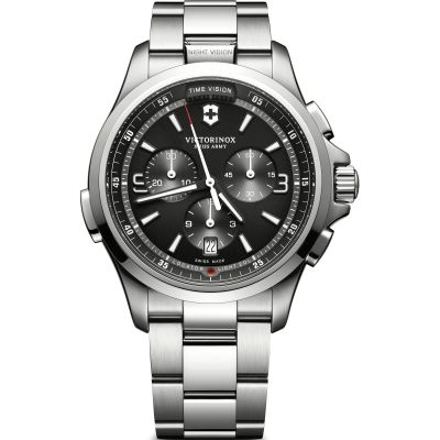 Victorinox Swiss Army Night Vision Herenchronograaf Zilver 241780