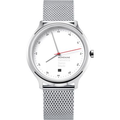 Unisex Mondaine Helvetica Regular Spiekermann Edition Watch MH1R2211SM