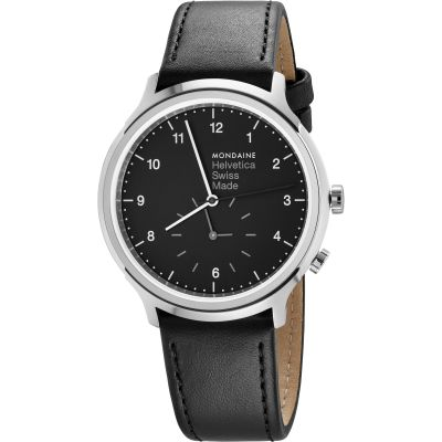 Unisex Mondaine Helvetica Regular 2nd Time Zone Watch MH1R2020LB