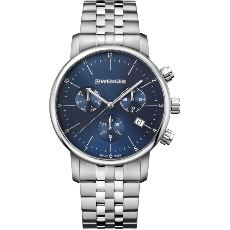 Mens Wenger Urban Classic Chrono Chronograph Watch 011743105