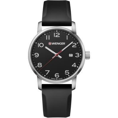 Wenger Avenue Herrenuhr in Schwarz 011641101