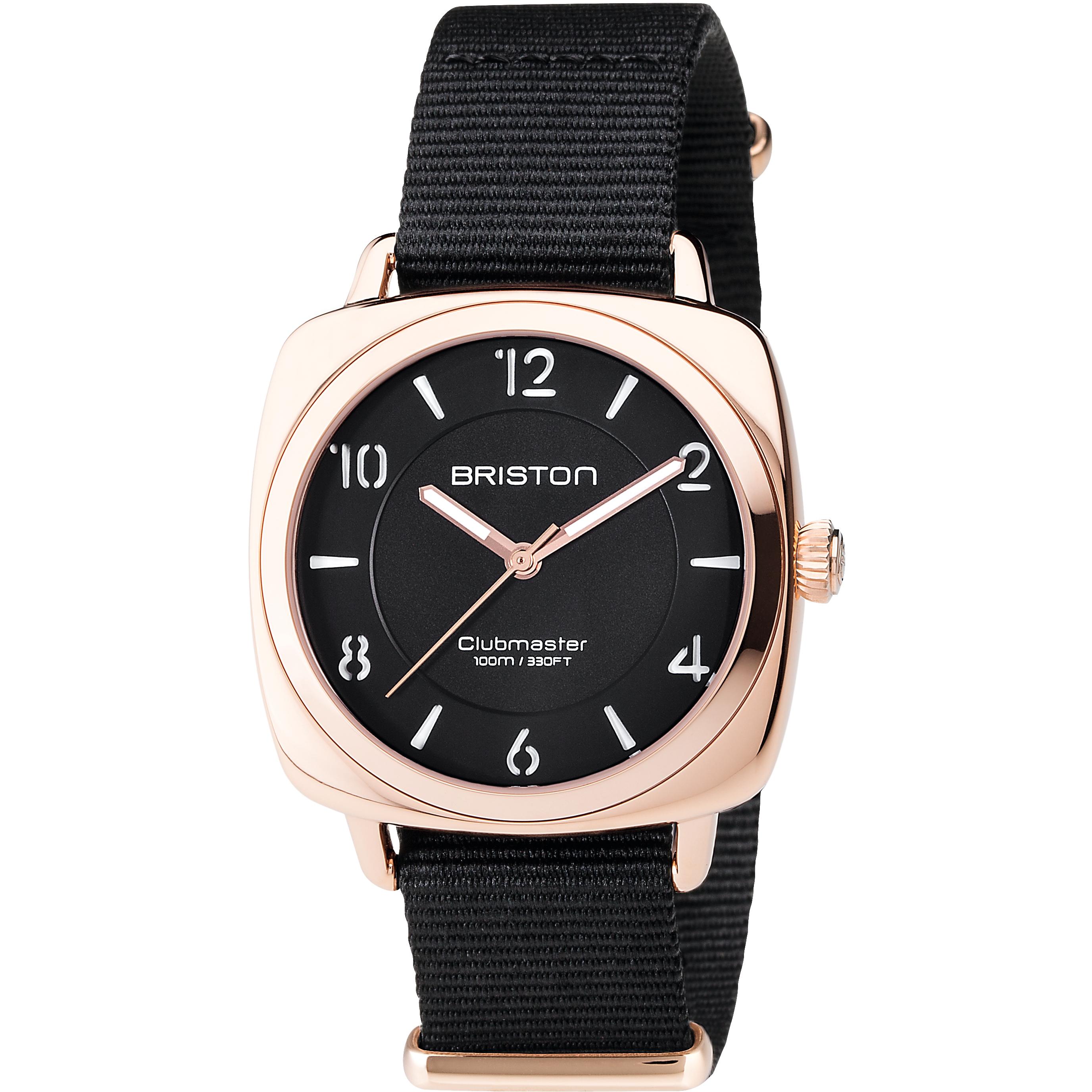 Ladies Briston Clubmaster Chic Steel Watch (17536.SPRG.L.1.NB)    WatchShop.com™