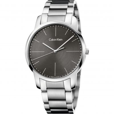 Calvin Klein City Herrenuhr in Silber K2G2G1Z3
