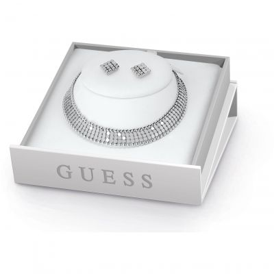 Ladies Guess Silver Plated Midnight Glam Box Set UBS84010