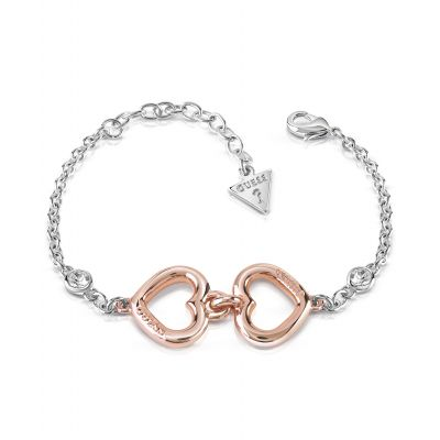 Ladies Guess Two-Tone Steel and Rose Plate Grace Bracelet UBB84045-L