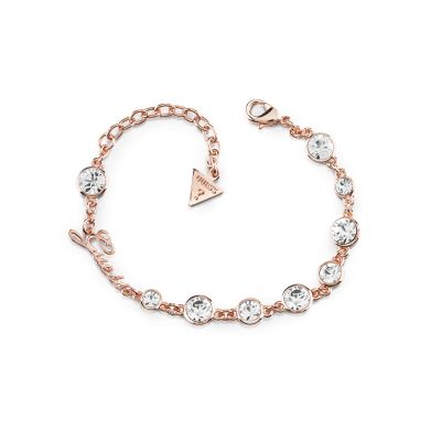 Ladies Guess Crystal Beauty Rose Gold Bracelet