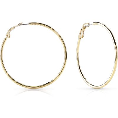 Ladies Guess Hoops I Did It Again Gold Earrings