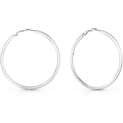 Guess Dames Hoops I Did It Again Earrings Verguld Zilver UBE84071