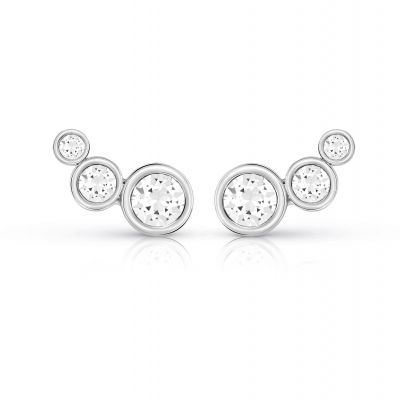 Ladies Guess Crystal Beauty Silver Earrings