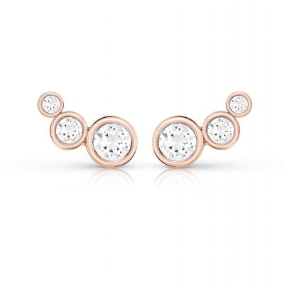 Ladies Guess Crystal Beauty Rose Gold Earrings
