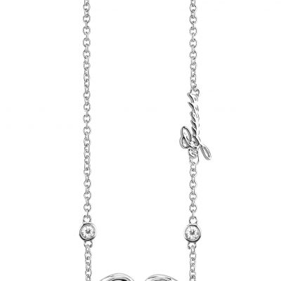 Ladies Guess Silver Plated Grace Necklace UBN84026