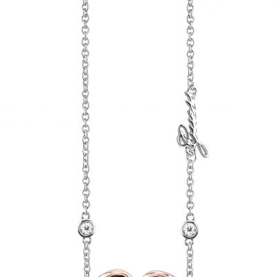 Ladies Guess Two-Tone Steel and Rose Plate Grace Necklace UBN84027