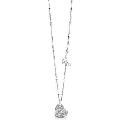 Ladies Guess Silver Plated My Sweetie Necklace UBN84040