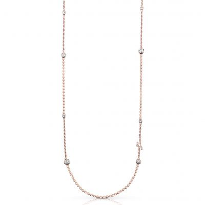 Ladies Guess Rose Gold Plated Crystal Beauty Necklace UBN84079