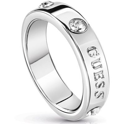 Ladies Guess Hoops I Did It Again Silver Ring