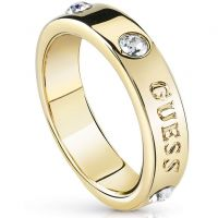 Ladies Guess Gold Plated Hoops I Did It Again Ring Size N UBR84029-54