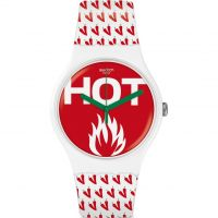 Unisex Swatch Au Feu Watch SUOW146