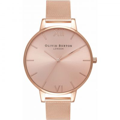 Sunray Rose Gold Mesh Watch