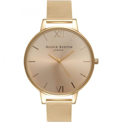 Ladies Olivia Burton Big Dial Mesh Bracelet Watch OB16BD103