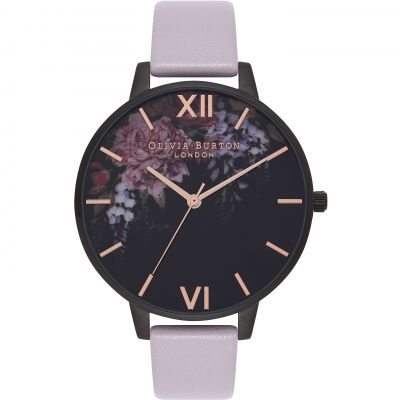 Reloj para Mujer Olivia Burton After Dark Grey Lilac & IP Black Floral OB16AD15