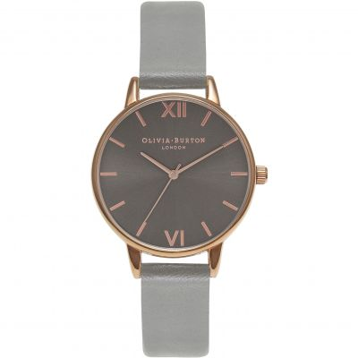 Olivia Burton Midi Dial Dark Grey & Rose Gold Dameshorloge Grijs OB16MD78