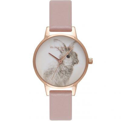 Vegan Friendly Bunny Rose & Rose Gold Watch