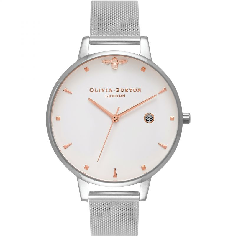 Queen Bee Rose Gold & Silver Mesh Watch