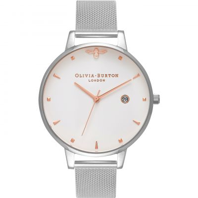 Reloj para Mujer Olivia Burton Queen Bee Rose Gold & Silver Mesh OB16AM115