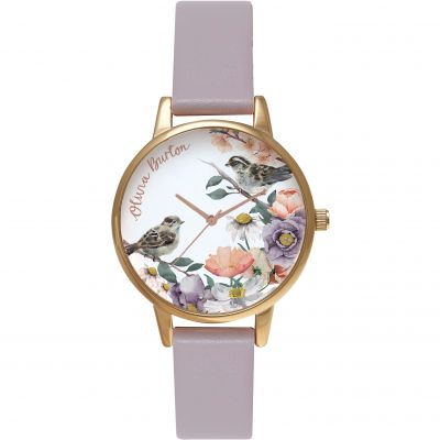 English Garden Grey Lilac & Rose Gold Watch