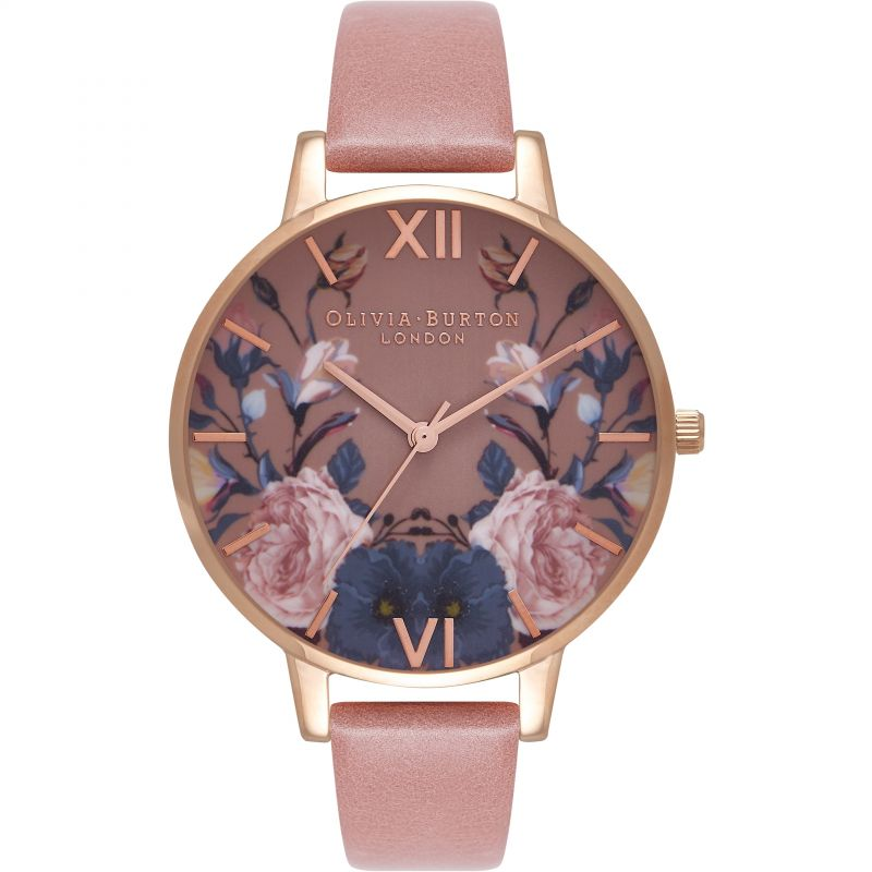 Ladies Olivia Burton Enchanted Garden Rose & Rose Gold Watch OB16EG74