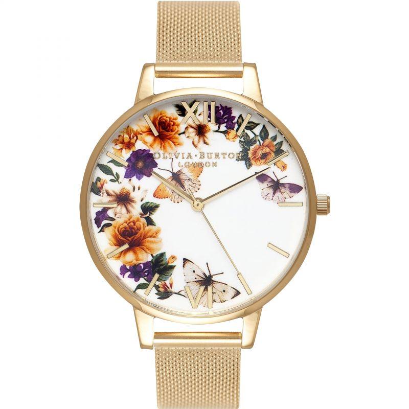 Enchanted Garden Gold Mesh Watch