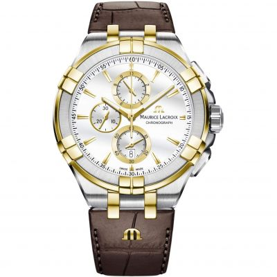 Maurice Lacroix Aikon Herenchronograaf Bruin AI1018-PVY11-132-1