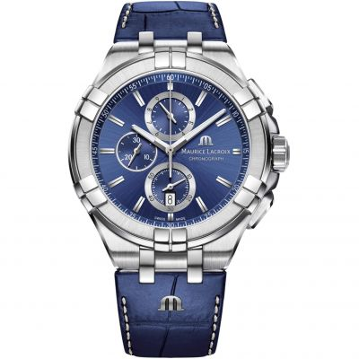 Maurice Lacroix Aikon Herenchronograaf Blauw AI1018-SS001-430-1