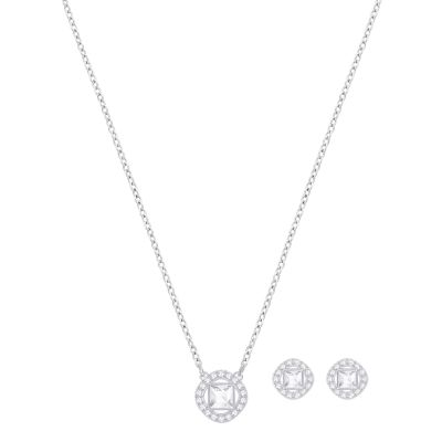Ladies Swarovski Silver Plated Angelic Set 5356951