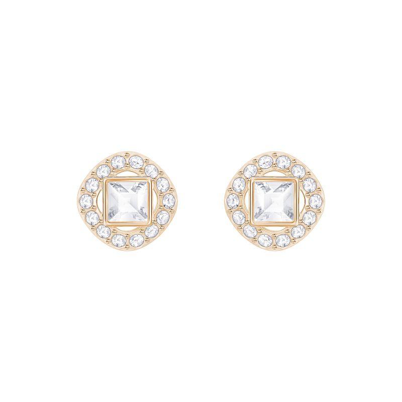 Image of            Ladies Swarovski Gold Plated Angelic Earrings
