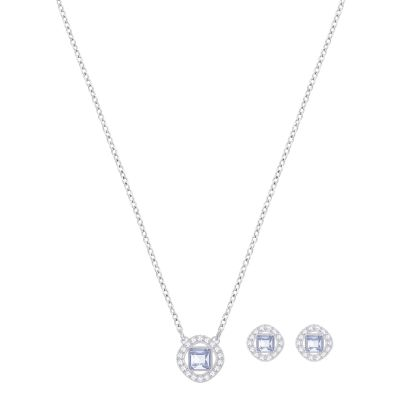 Ladies Swarovski Silver Plated Angelic Set 5289513