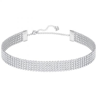 Ladies Swarovski Silver Plated Fit Refresh Necklace 5299886