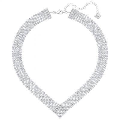 Ladies Swarovski Silver Plated Fit Refresh Necklace 5289715