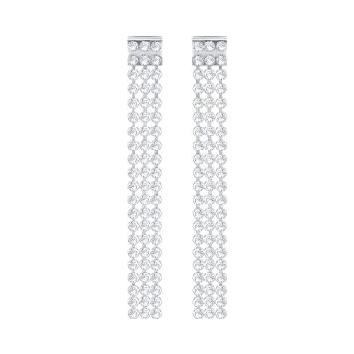 Ladies Swarovski Silver Plated Fit Refresh Earrings 5293087