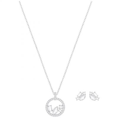 Ladies Swarovski Silver Plated Henrietta Set 5368072
