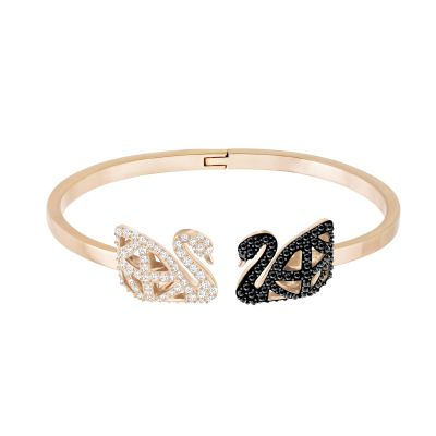 Ladies Swarovski Rose Gold Plated Facet Swan Bangle 5289535
